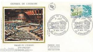 1981-ENVELOPPE-SOIE-FDC-1-JOUR-CONSEIL-DE-L-039-EUROPE-TIMBRE-Y-T-67