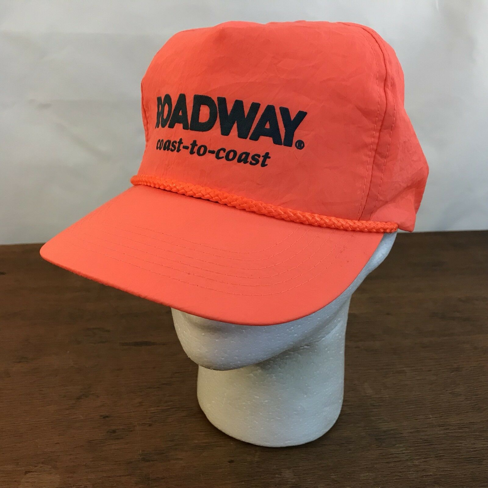 4dbc6b4807c18 Roadway Coast To Coast Hat Orange Nylon Snapback Trucker Cap Hat Coast CH24  e267ec