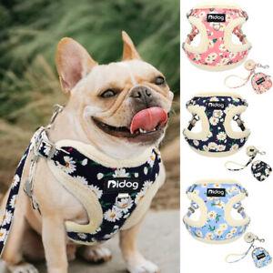 Small-Pet-Dog-Harness-amp-Lead-amp-Treat-Bag-Fleece-Padded-Puppy-Cat-Vest-Chihuahua-Pug
