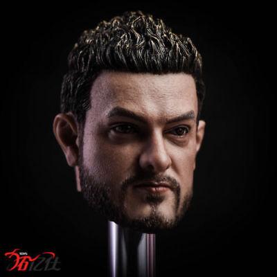 Indian Male Star Amir Khan 1//6 Scale Head Sculpt Model Fit 12/'/' Action Figure
