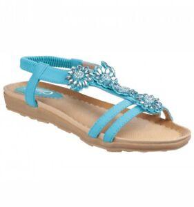 69b452e91e0256 Image is loading Divaz-Ladies-Slingback-Sandals-Style-Cyrus-Colour-Turquoise -