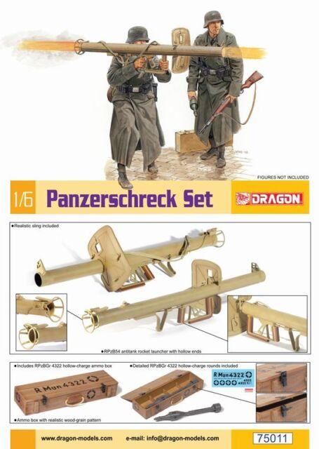 TOY German RPzB 54 Panzerschreck Round DRAGON 1//6