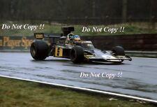 Ronnie Peterson JPS Lotus 72E F1 Race of Champions 1975 Photograph 1