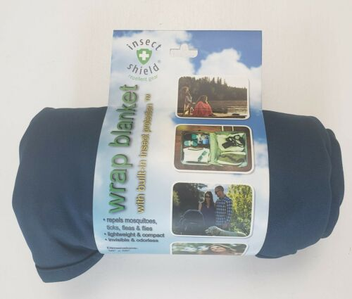 New Insect Shield Repellent Gear Dark Blue 36X56 Outdoor Wrap Blanket