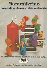 X4252 Fiammiferino - GIG nel paese delle meraviglie - Pubblicità 1977 - Advertis