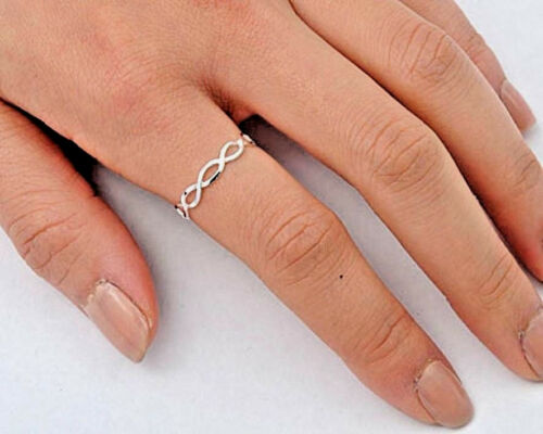 USA selletiny Infinity ring sterling silver 925 Plain BEST DEAL Bijoux Taille 3.5