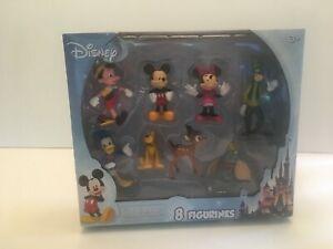 Disney-Mickey-Mouse-amp-Friends-8-Figurines-Dumbo-Bambi-Pinocchio-Donald-New