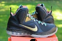 Lebron 9 Watch The Throne Sample Pe Size 8 Ds Rare Black Gold