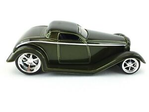 Jada-Toys-D-Rods-1932-32-Ford-Dark-Green-Diecast-1-64-Scale-Loose-2005-Wave-1