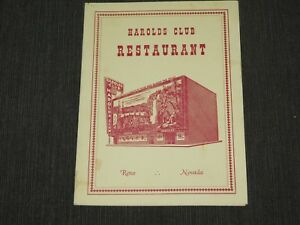 VINTAGE OLD DINING CASINO HAROLDS  CLUB RESTAURANT RENO NEVADA LIQUOR MENU