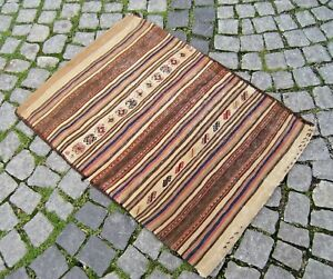Responsible Fabulous Antique Awesome Caucasian Collector's Piece Distressed Kilim Cemal Bag To Adopt Advanced Technology Rugs & Carpets