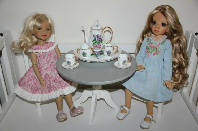 """Kaye Wiggs 11/"""" Raillie Doll Shoes 37mm CREAM Sandals for Bleuette"""