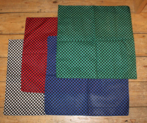 Red /& Green 4 Checkered Bandanas Black White