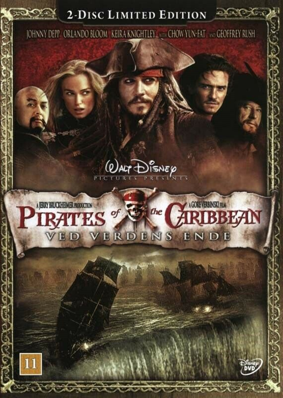 NY - PIRATES OF THE CARIBBEAN VED VERDENS ENDE, DVD, eventyr