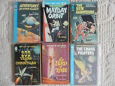 6 ACE DOUBLE SCIENCE FICTION F SERIES LOT ADVENTURES ON OTHER PLANETS KNIGHT,