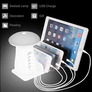 Image Is Loading 5port Usb Charging Station Dock Desktop Charger Night
