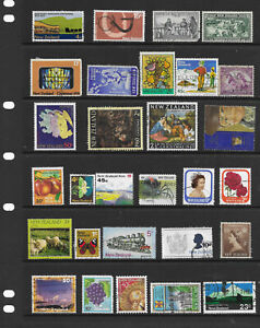 New Zealand    100 plus  mixed collection used stamps