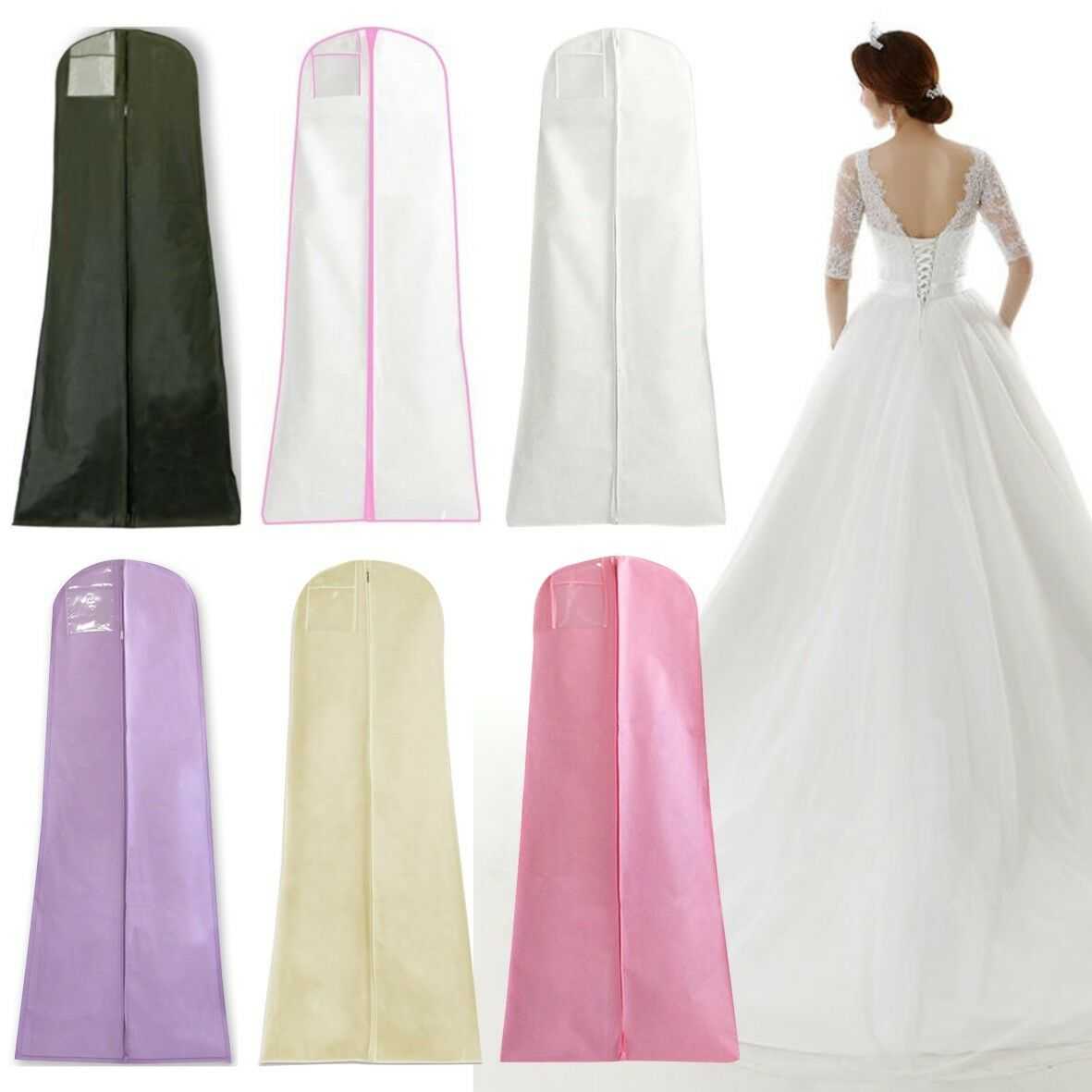 Wedding Dress Storage Bags Long Bridal Gown Garment Cover Dustproof Extra Large Ebay,Wedding Dress From Dhgate Review