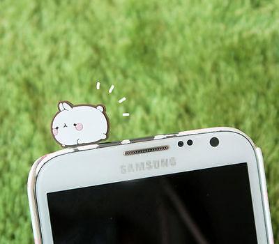 Molang Ear Cap Plug For Mobile Smartphone Phone Anti Dust Charm Cute Rabbit