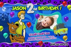 Scooby Doo Birthday Invitation Blank Templates Scooby