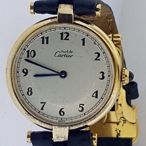 2b06d7db9b9 Image is loading Must-de-Cartier-Vintage-30mm-Vermeil-Quartz-Watch-