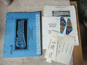 original-WILLIAMS-FUNHOUSE-SET-EXTRAS-SLINGSHOT-PLASTIC-pinball-MACHINE-manual