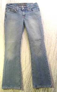 Distressed-FADED-Low-FLARE-Leg-ABERCROMBIE-and-FITCH-Cotton-Spandex-Jeans-0