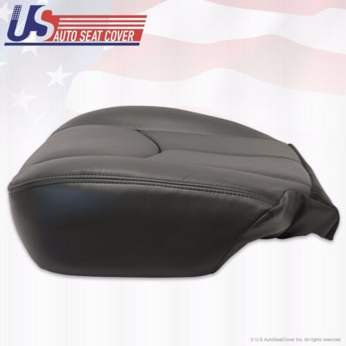 2003 2004 Chevy Avalanche Left Front Bottom Leather Seat Cover Dark Gray