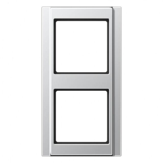 Jung A500 aluminium, RAHMEN 2-FACH A582AL  81x152x10mm