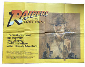 ORIGINAL-UK-QUAD-POSTER-Raiders-of-The-Lost-Ark-1981-30-034-x-40-034-6529