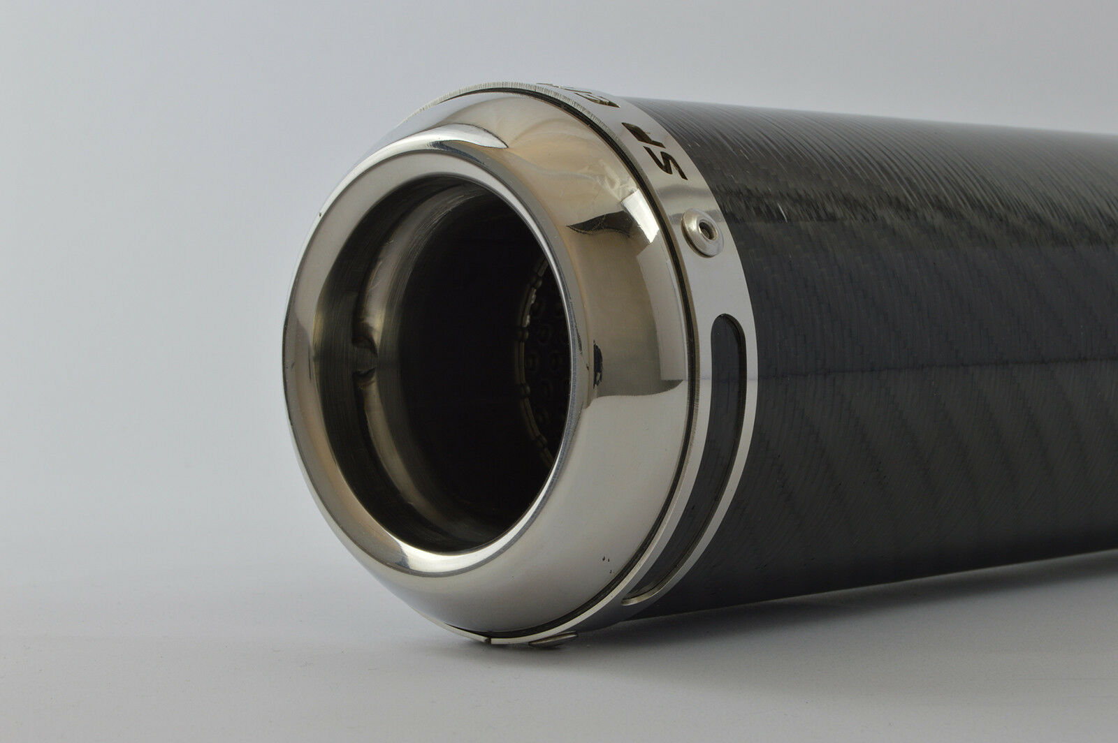 """2.5/"""" Slip On SP Engineering Carbon Fibre Stubby Domed GP Exhaust 63mm"""