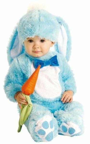 Child Handsome Lil Wabbit Blue Bunny Baby Costume