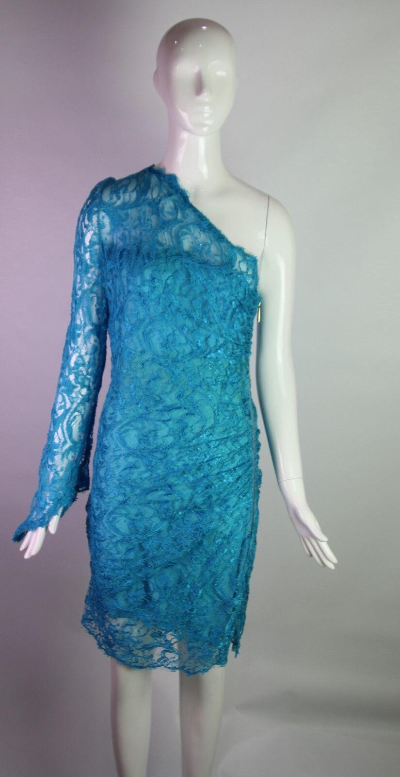 Vestido  de encaje Emilio Pucci Azul de un hombro  directo de fábrica