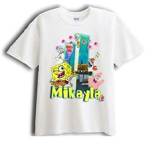 Spongebob Squarepants Shirt Birthday Shirt Custom Name and Age