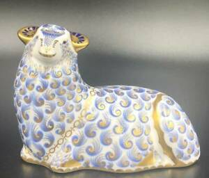 Royal-Crown-Derby-Paper-Weight-Sheep
