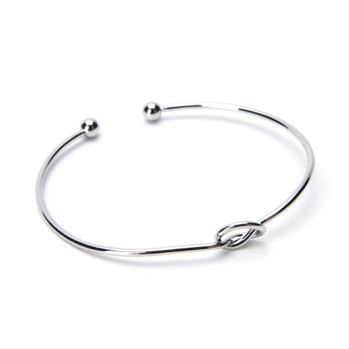 Modeélégant chic femmes noeud ajustable braceletchaîne Bracelet Bijoux cadeau Ff