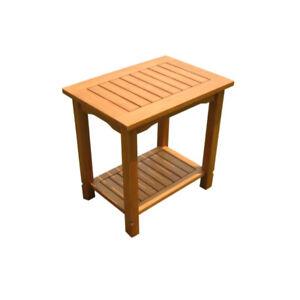 NEU-Holztisch-Beistelltisch-Grill-Tisch-Gartentisch-Kuechentisch-mit-extra-Boden