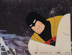 Space Ghost Original Production Cel w/Matching Drawing Large