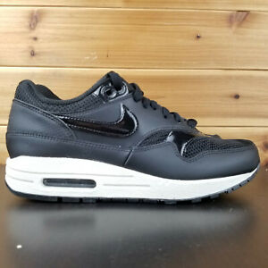 Details about Nike Air Max 1 Black Summit White Leather Mesh Womens Size 6 New 319986 039