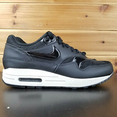 Nike Air Max 1 Black Summit White Leather Mesh Womens Size 9