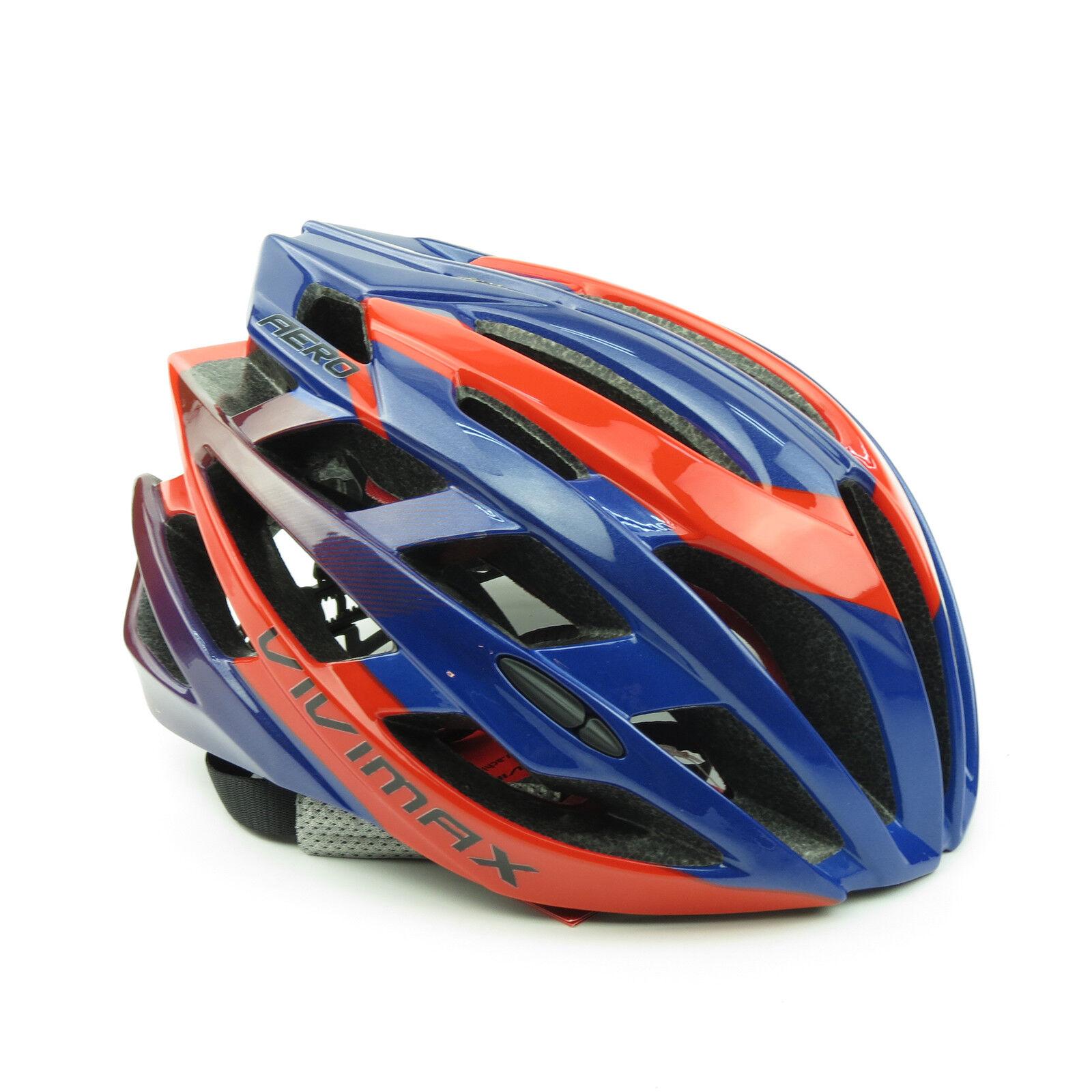 VIVIMAX Aero  Road Bike Bicycle Cycling Helmet X XL 58-62cm - Shinny bluee x Red  best fashion