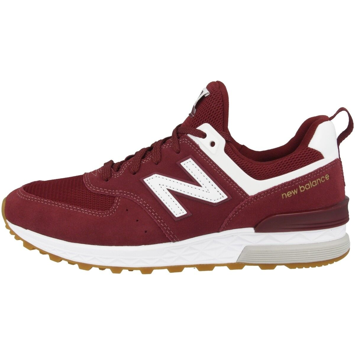 New balance MS 574 ζ zapatos deportivos calcetines calcetines calcetines cortos retro Burgundy blancoooooo ms574fcw 909f4e