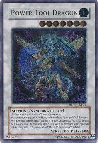 *** POWER TOOL DRAGON *** ULTIMATE RARE RGBT-EN038 YUGIOH MINT//NM