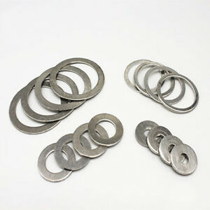 Size : M24x30x1.5mm Zyj stores Flat Washers 20pcs M12 M14 M16 M18 M20 M22 M24 M27 M30 Boat Red Brass Copper Crush Sealing Washer Flat Seal Gasket Ring Stainless Flat Washer