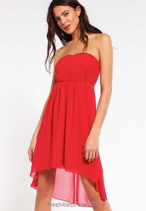 Vila Scarlet Sage Gr. XL 42 Freizeitkleid Damen Coctailkleid Kleid Rot A5975
