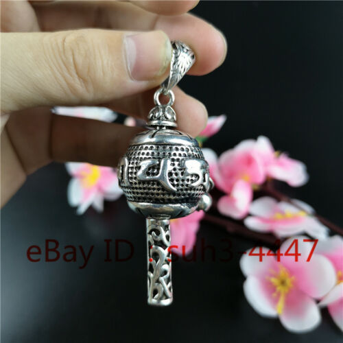 Cupronickel Silver Plated Rotatable Pendant China Handmade Decor Creative Gifts