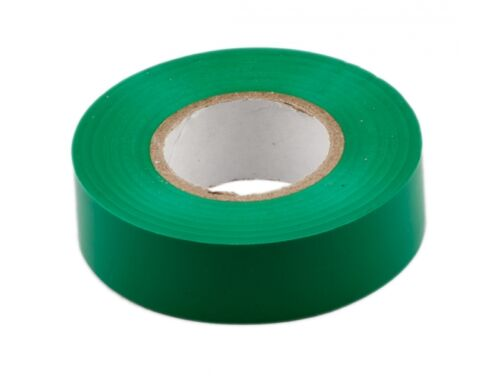 Green Insulation tape 19mm x 20m Pack of 5