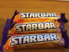 3 x CADBURY STARBAR BARS, 3 x 49gram BARS, BRITISH CHOCOLATE, FREE UK p&p