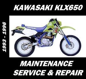Kawasaki-KLX650-KLX-650-Maintenance-Tune-Up-Service-Repair-Rebuild-Manual