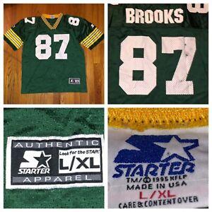 new style 7ccb3 980b9 Vtg Starter Robert Brooks Green Bay Packers Kids NFL Jersey ...